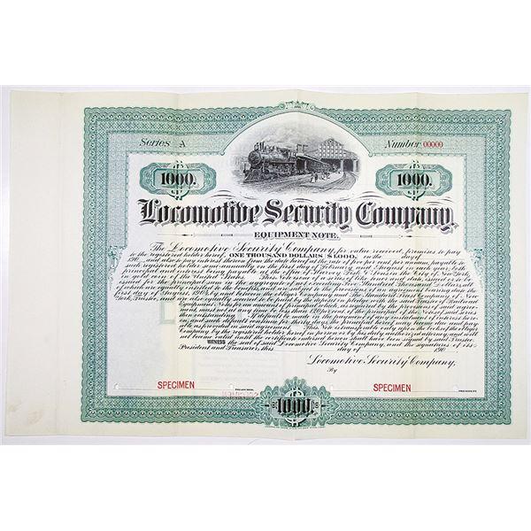 Locomotive Security Co. 1904 Specimen Bond