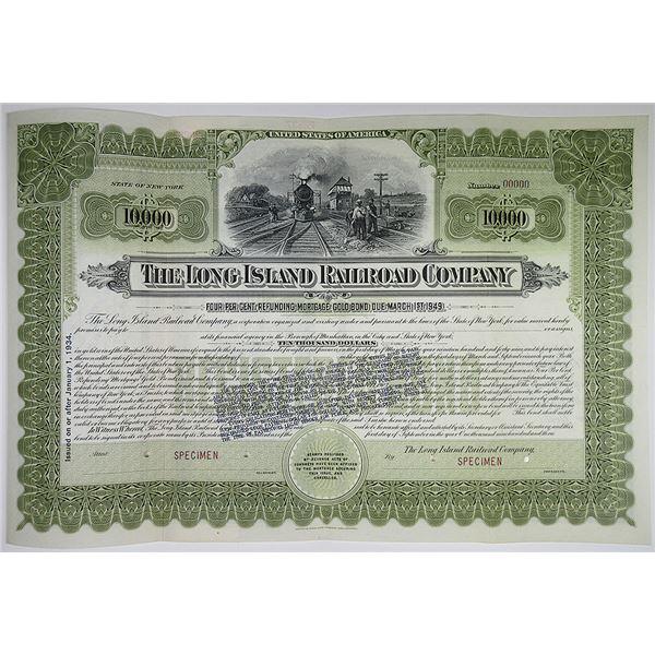 Long Island Railroad Co., 1893 Specimen Bond