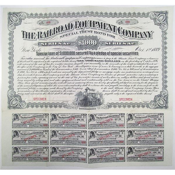 Railroad Equipment Co. 1889 Specimen Bond