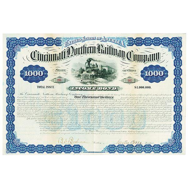 Cincinnati Northern Railway Co., 1881 I/U Bond