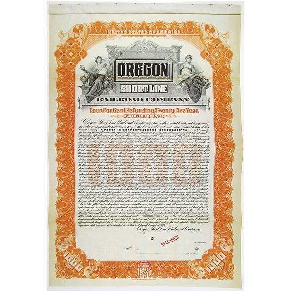 Oregon Short Line Railroad Co. 1904 Specimen Bond