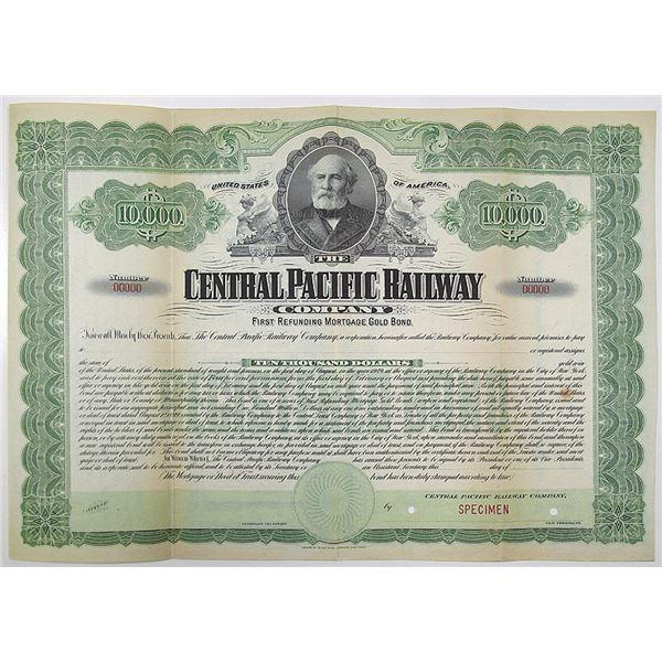 Central Pacific Railway Co. 1899 Specimen Bond