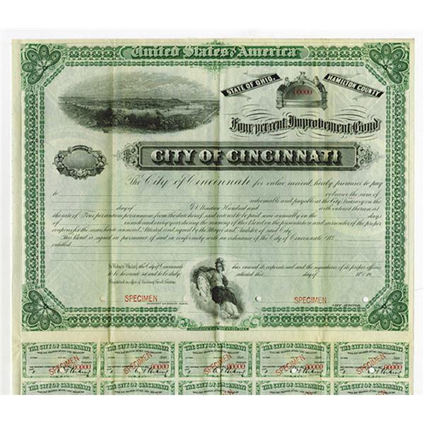 City of Cincinnati, ca.1900-1920 Specimen Bond