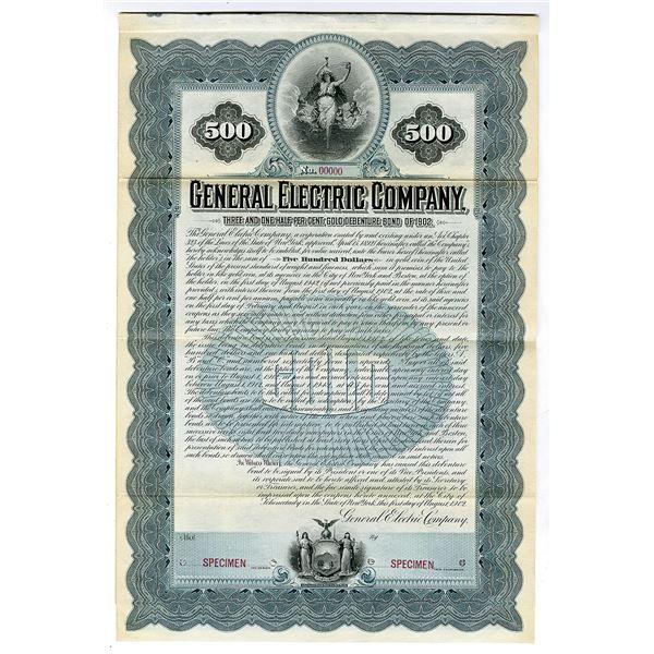 General Electric Co., 1902 Historic Specimen Bond Rarity