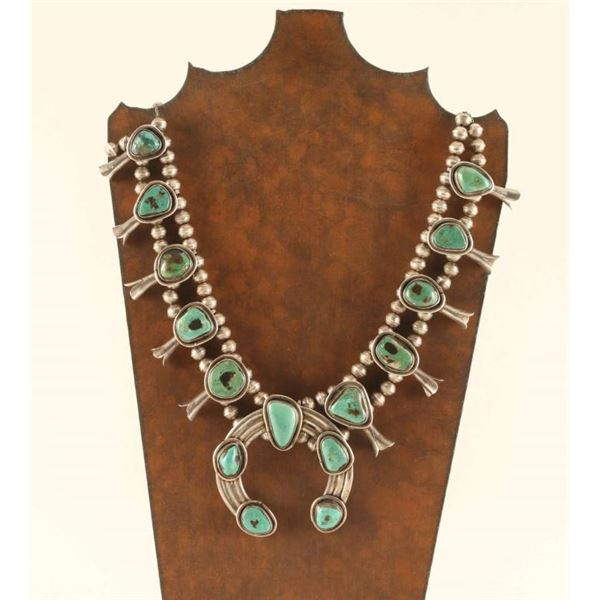 Old Pawn Turquoise Squash Blossom