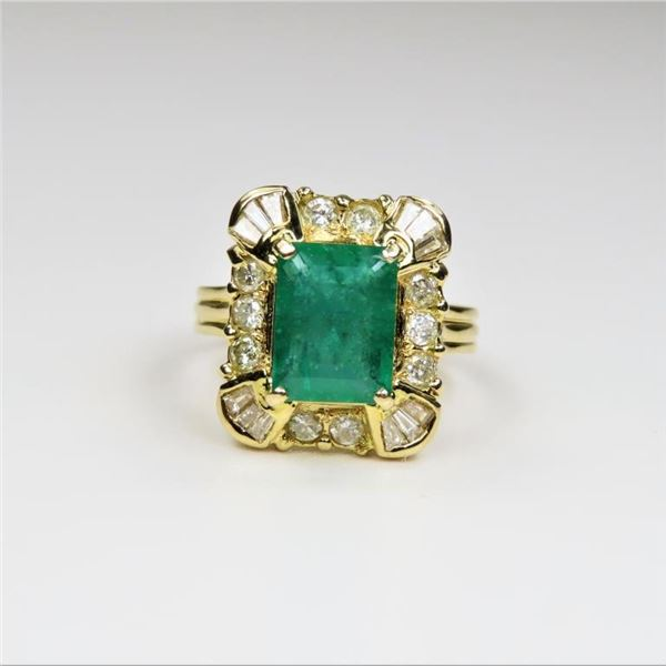 Gorgeous Emerald and Diamond Ring