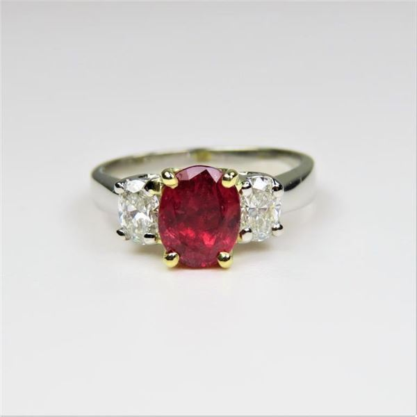 Exceptionally Fine Ruby and Diamond Ring