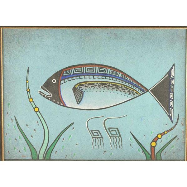 Original Hopi Arcylic/Sand Painting