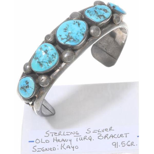 Navajo Mens Turquoise Bracelet