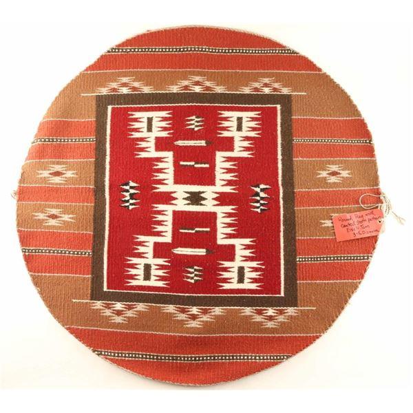 Round Navajo Rug