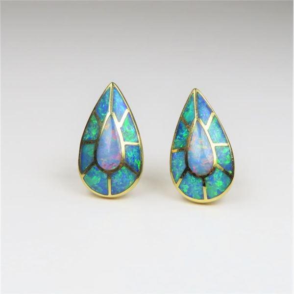 Brilliant 18 karat Australian Opal and Diamond