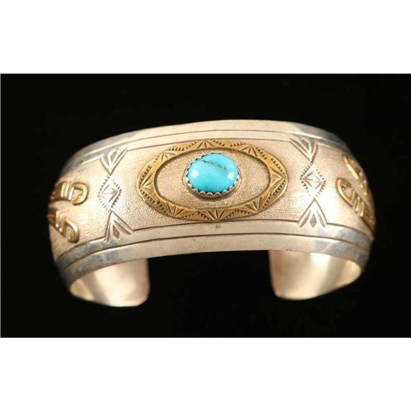 Indian Handmade Sterling Silver Cuff