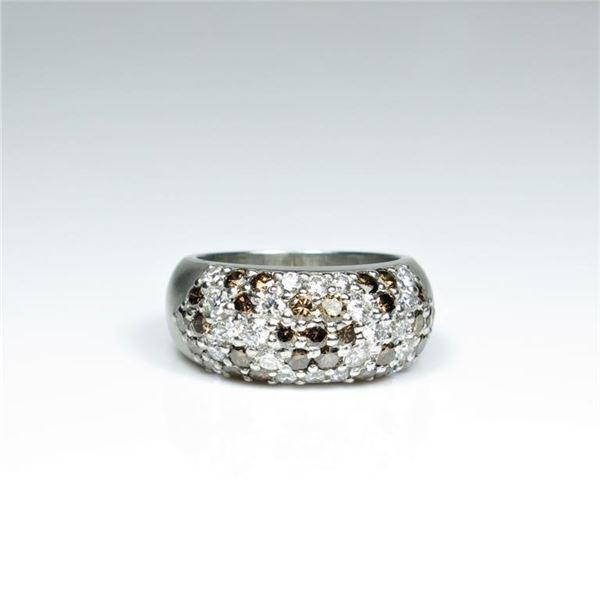 Luxury Platinum White and Chocolate Diamond