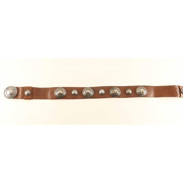 Unique Sterling Concho Belt