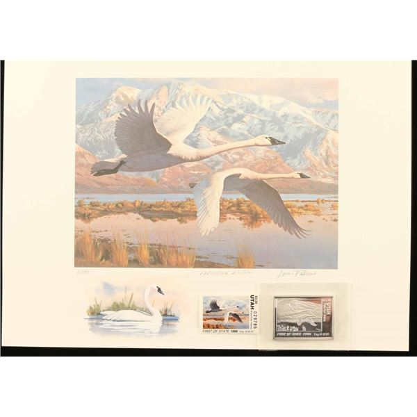 1986 Migratory Waterfowl Print by Leon Parson