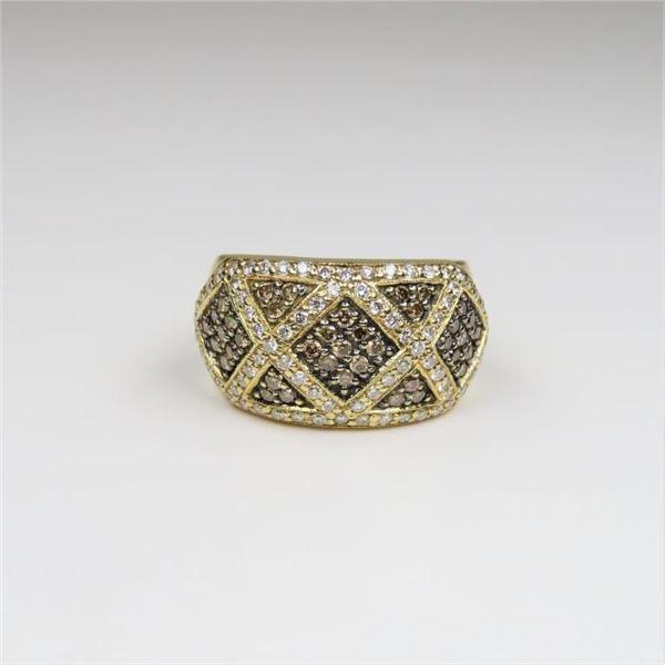 Beautiful Levian White and Champagne Diamond