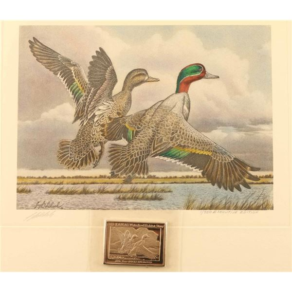 1987/88 Kansas Waterfowl Habitat Print