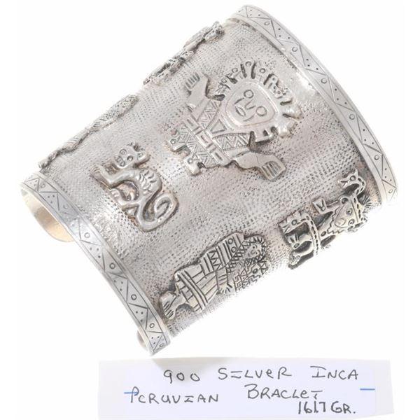 Inca Design Silver Bracelet