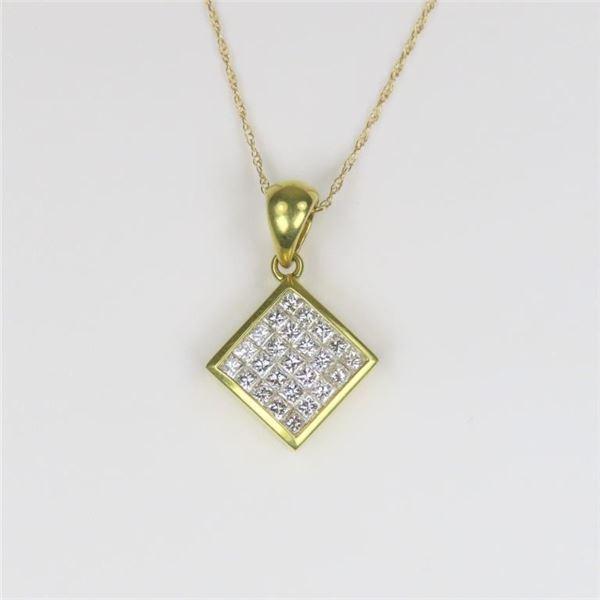 Brilliant Extra Fine 18 karat Diamond Pendant