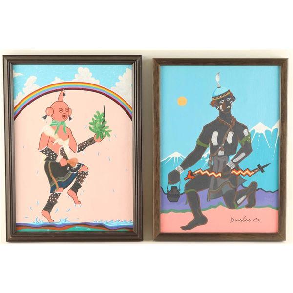 Lot of 2 Original Acrylics