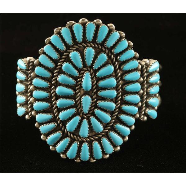 Zuni Turquoise Cluster Bracelet