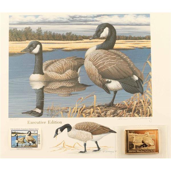 Kansas 1988 Habitat Waterfowl Stamp Print