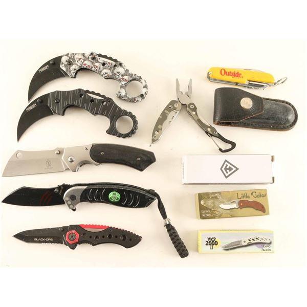 Lot of Folding Knives