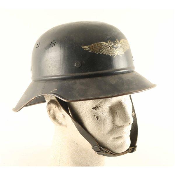 German WWII Luftwaffe Air Warden Helmet