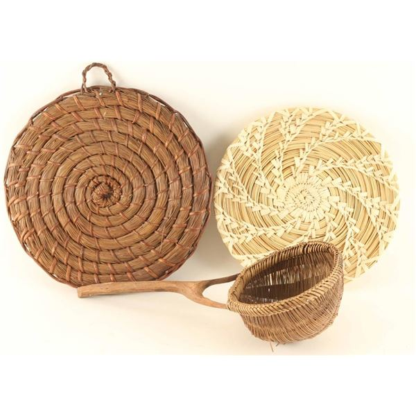 Lot of (2) Navajo Basketry Trays