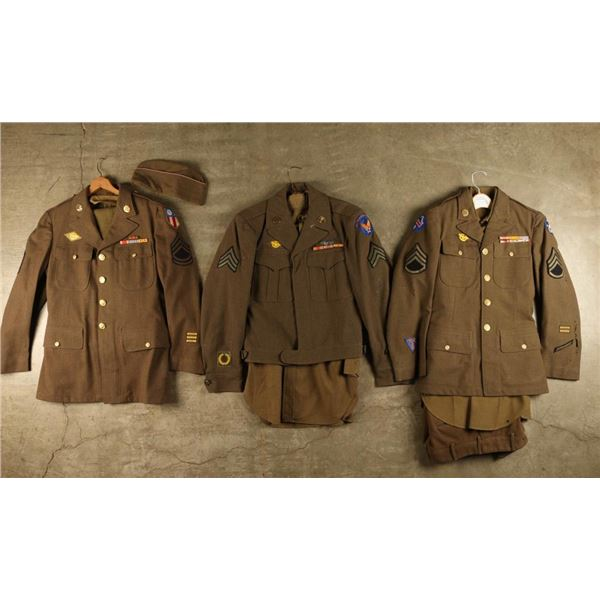 Lot of 3 WWII US Uniforms
