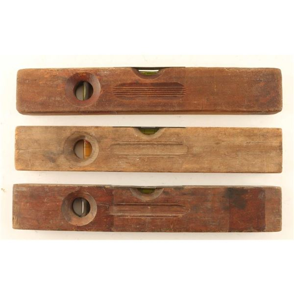 Lot of (3) Wooden Winchester Levels