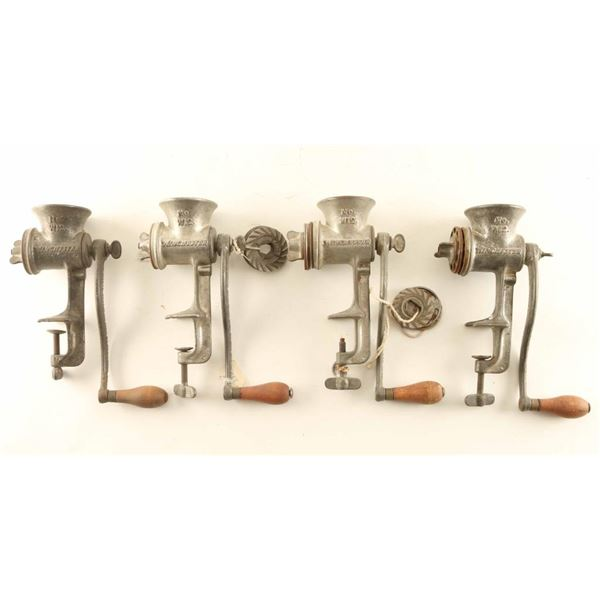 Lot of (4) Winchester Food Grinders