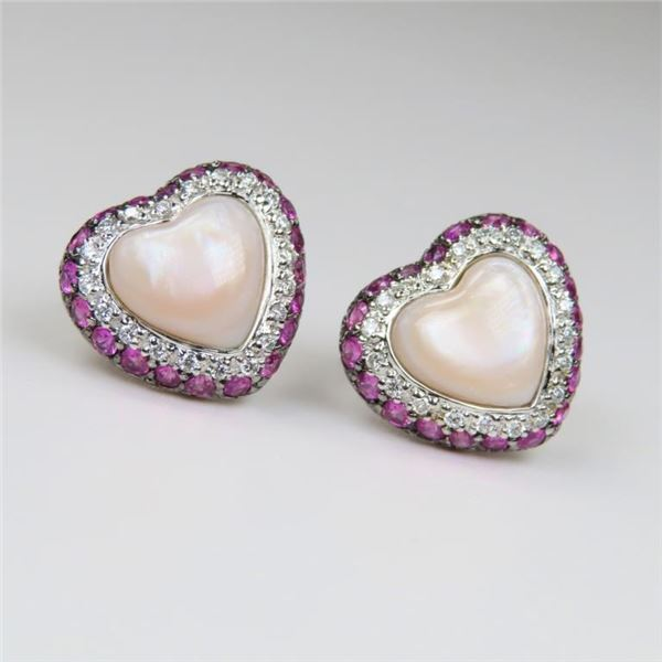 Lovely Mother of Pearl, Pink Sapphire