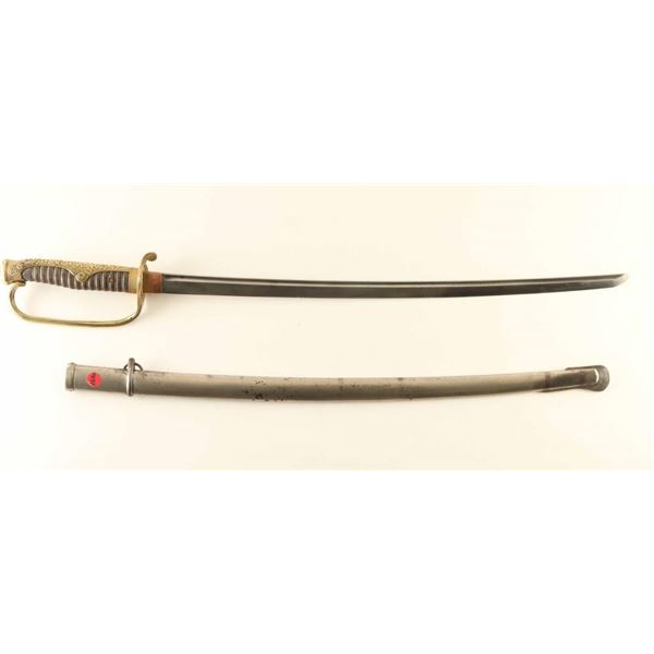 WW2 Japanese Army Officers Kyu-Gunto Sword.