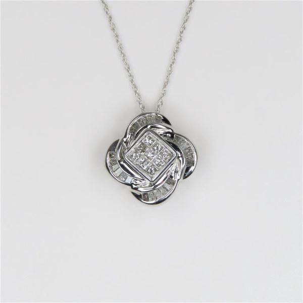 Dazzling Diamond Pendant featuring 33 Princess