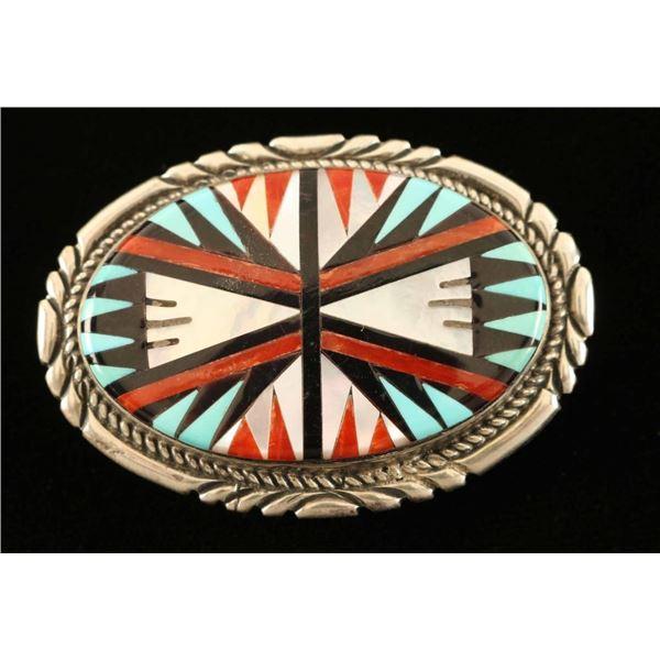 Petite Zuni Inlaid Buckle