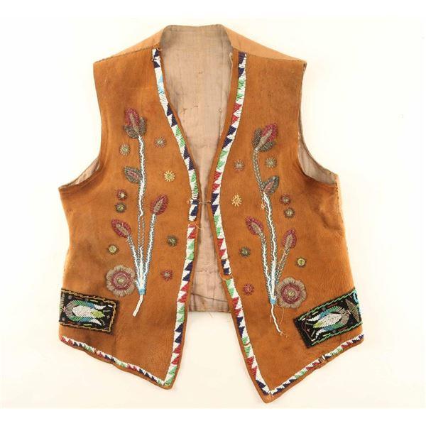 Beautiful Beaded Buckskin Vest