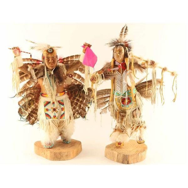 Lot of 2 Carved Kachina Dolls