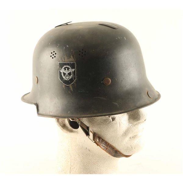 German WWII Fire & Police Helmet