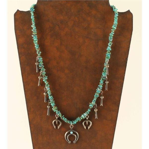 Turquoise Heishi Beaded Necklace