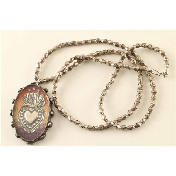 Mexican Sacred Heart Necklace