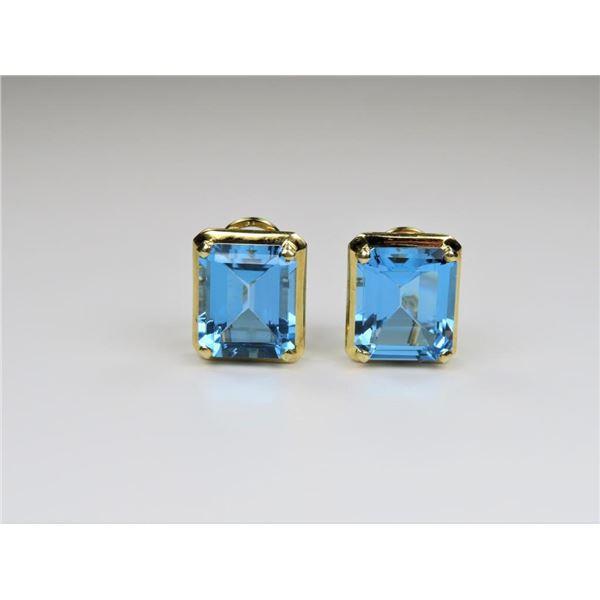 Vibrant Swiss Blue Topaz Earrings