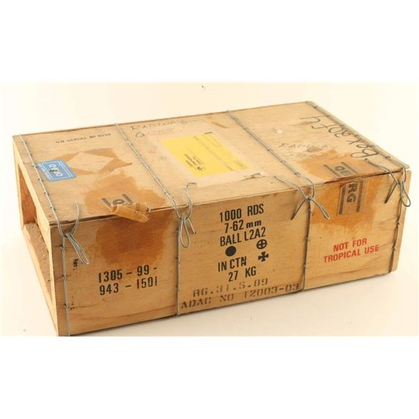 Case of 7.62x51 L2A2 Ammo