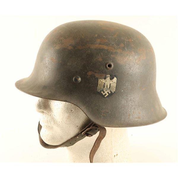 German WWII Single Decal Helmet