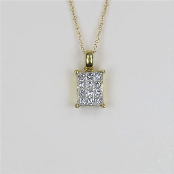 Dazzling 18 Karat Diamond Pendant