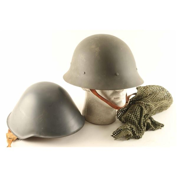 (2) German Post War Helmets