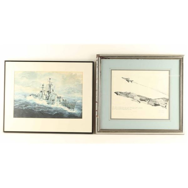 Lot of 2 Military Related Prints