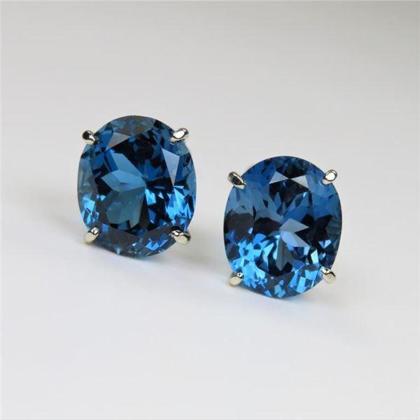 Beautiful London Blue Topaz Earrings
