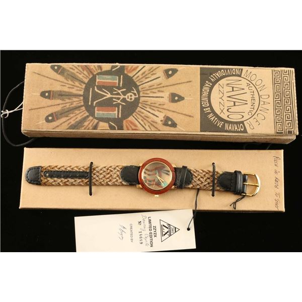 Navajo Sand painted Face Watch