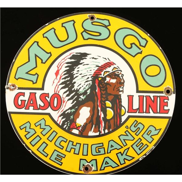 Vintage Gasoline Sign
